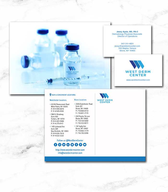 West Derm - Mailer and Business Card. Art Direction • Production